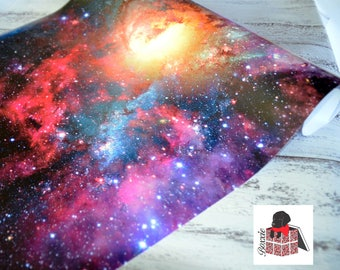 Galaxy wrapping paper sheets space nebula gift wrap GW5053