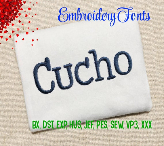 SALE! Cucho Font Embroidery Fonts 6 Sizes Instant Download 9 Formats  Embroidery Alphabets Machine Embroidery design PES BX Fonts