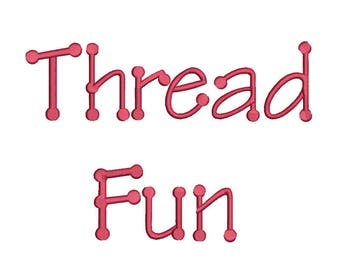 SALE !  4 size Thread Fun font Embroidery Fonts 8 Formats Instant Download  Embroidery Pattern Machine Embroidery design PES