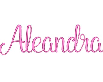 SALE ! Aleandra Font Embroidery Fonts 5 Size Set 1 Instant Download 8 Formats Embroidery Pattern Machine Embroidery design PES