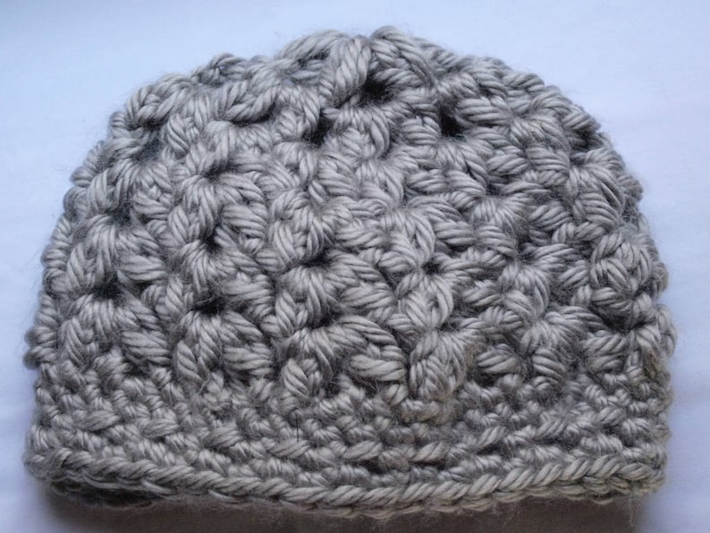 Color Changing Rose on Chunky Crochet Hat