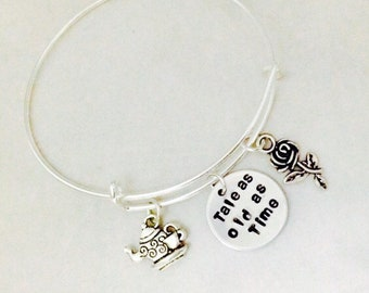 Tale As Old As Time Bangle, Beauty And The Beast Bracelet