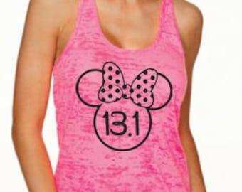 Half Marathon Running Tank. Minnie Ears. Disney Half. 13.1 Tank. Training Tank. Running Shirt. Marathon Tank. Run Disney. Workout Tank.