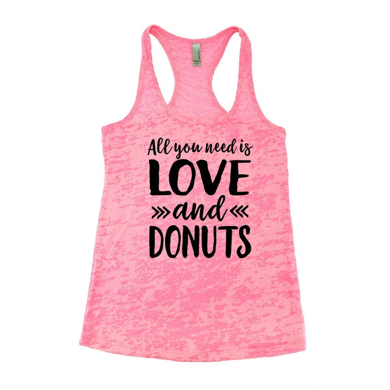 83006fc6eb60a9 Valentine s Day Shirt. Love and Donuts. Funny Workout. Gym