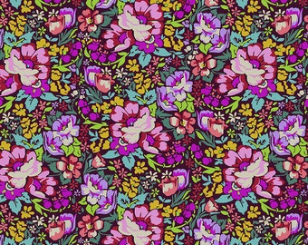 Love Always by Anna Maria Horner Fabrics for Free Spirit Fabrics - Fat quarter of Overachiever in Burgundy