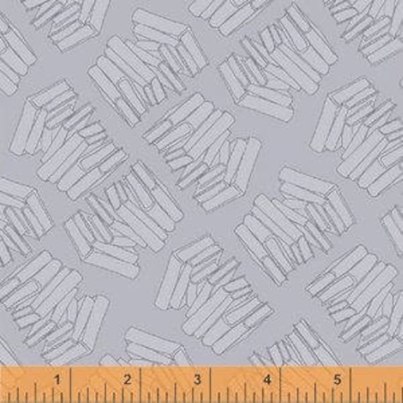 Literary by Heather Givans for Windham Fabrics - Stacks in Moby - Fat Quarter