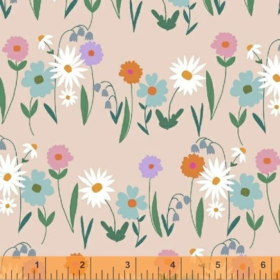 Daisy Chain by Annabel Wrigley for Windham Fabrics - Daisy Field in Blush