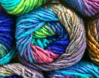 "NORO Kureyon - Aqua Purple Multi (40) ""Ukiha"" - 50g - 100% Wool- 10 Ply Yarn"