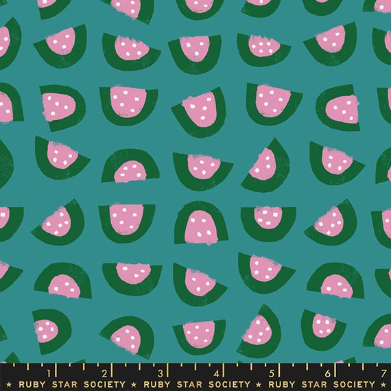 Food Group Watermelon in Succulent (RS5040 14) by Ruby Star Society -- Fat Quarter