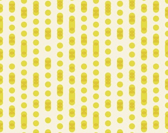 First Light Moonrise in Code in Citron (RS052-15) by Ruby Star Society for Moda -- Fat Quarter