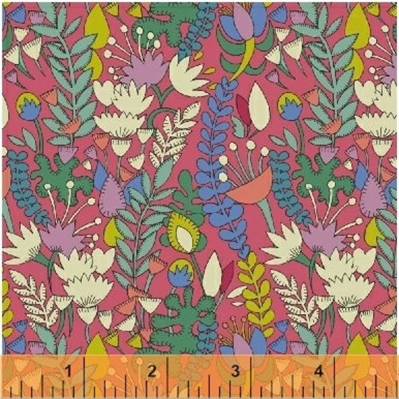 Fantasy by Sally Kelly for Windham Fabrics - Fat Quarter of 51289-5