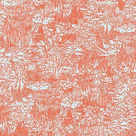 In Stock!  Friedlander by Carolyn Friedlander - Fat Quarter- Green Wall Lawn in Flame