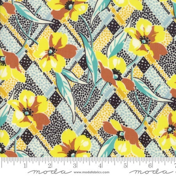 Moda Remix Lilly in Limoncello (1815416) by Jen Kingwell -- Fat Quarter