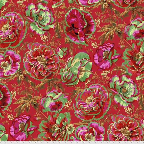 Kaffe Fassett Collective August 2021 -- Fat Quarter of Philip Jacobs Dorothy in Red