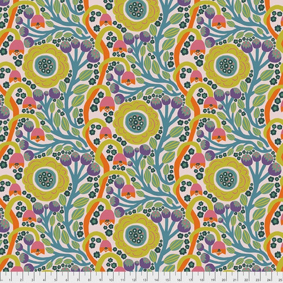 Endless Summer by Monika Forsberg for Anna Maria Horner's Conservatory Chapter 3 - Fat Quarter of Dotty Bloom in Sun
