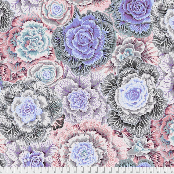 Kaffe Fassett Collective Fall 2018 -- Fat Quarter of Philip Jacobs Brassica in White