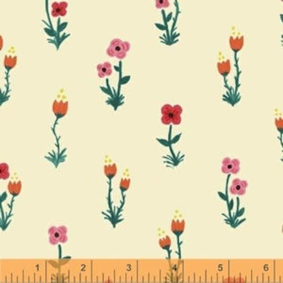 Meriwether by Amy Gibson for Windham Fabrics - Folk Fleur in Farmhouse - Fat Quarter