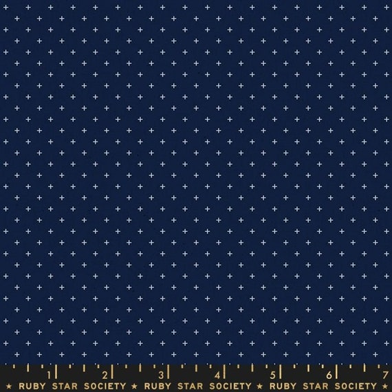 Add It Up and Alma by Alexia Marcelle Abegg -- Ruby Star Society Fabric, RS4005-37 Fat Quarter of Add It Up Navy