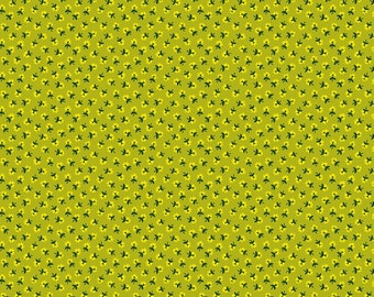 Five and Ten by Denyse Schmidt for Windham Fabrics -- Fat Quarter of Itty Bitty in Lime (52488-12)