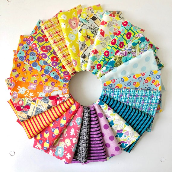 Remix by Jen Kingwell for Moda Fabrics - Fat Quarter Bundle of 22