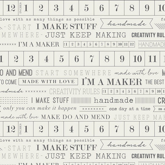 Maker by AGF Studio for Art Gallery Fabrics - I'm a Maker