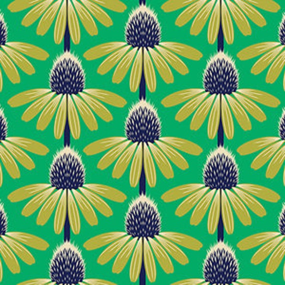 Floral Retrospective by Anna Horner for Free Spirit Fabrics - Echinacea in Preppy