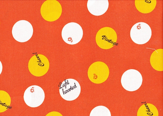 Lighthearted by Ayumi Takahashi for Kokka - Text Circles in Orange