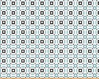 Uppercase Volume 2 by Janine Vangool for Windham Fabrics - Gridlock in Turquoise - Fat Quarter