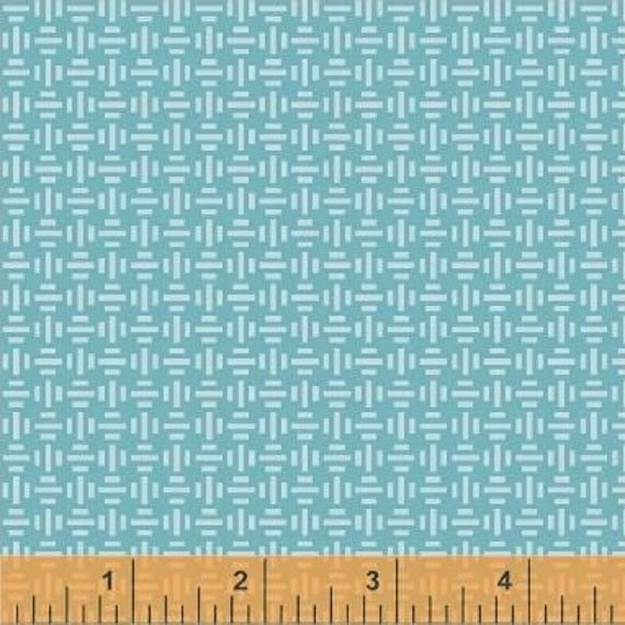 Uppercase Volume 2 by Janine Vangool for Windham Fabrics - Warp & Weft in Tuquoise - Fat Quarter