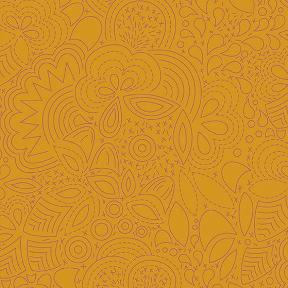 Sunprint 2020 by Alison Glass -- Fat quarter of Stitched in Penny