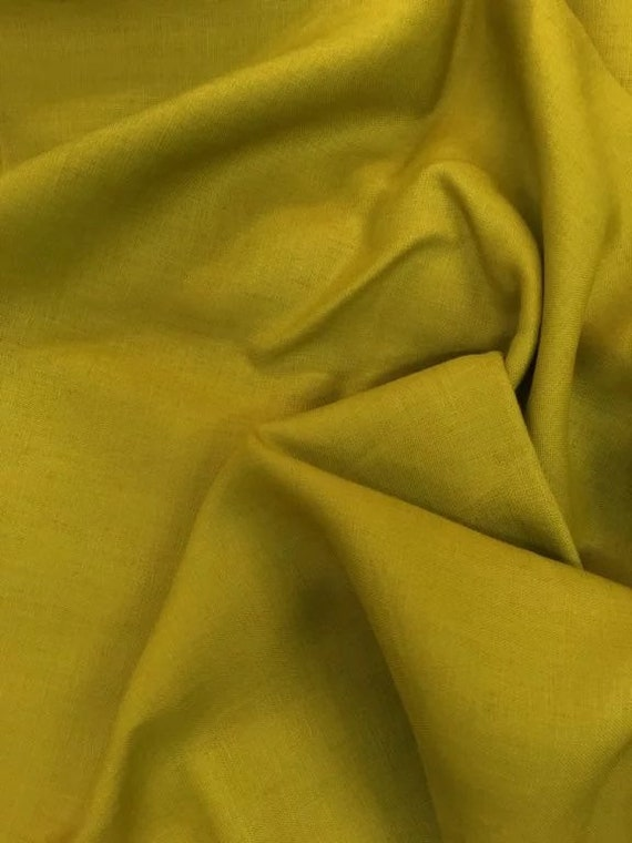 Rossini Linen in Chartreuse- Purchase in 50cm Increments