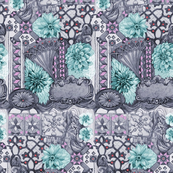 English Summer by Anna Horner for Free Spirit Fabrics - Tourist in Amethyst