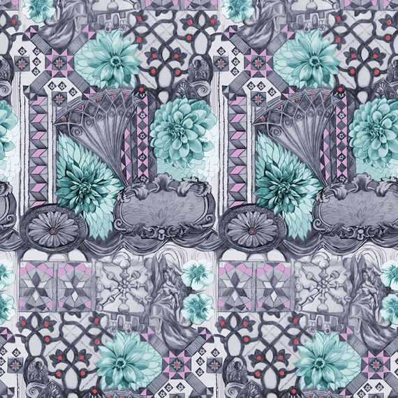 English Summer by Anna Horner for Free Spirit Fabrics - Tourist in Amethyst