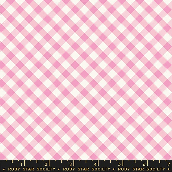 Food Group Painted Gingham in Orchid (RS5044 12) by Ruby Star Society -- Fat Quarter