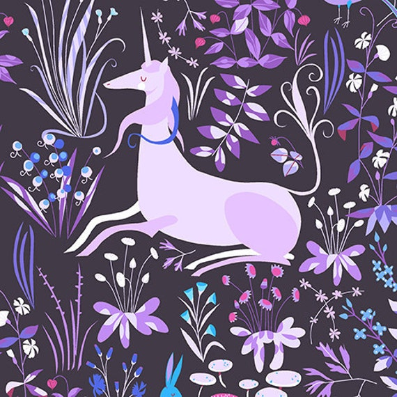 Andover - Lizzy House - The Lovely Hunt - Tapestry in Purple Violet