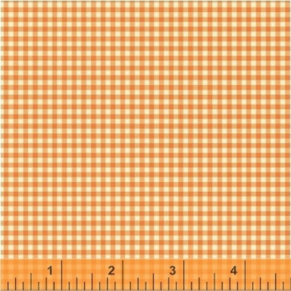 Heather Ross Trixie for Windham Fabrics - Fat Quarter Gingham in Tangerine