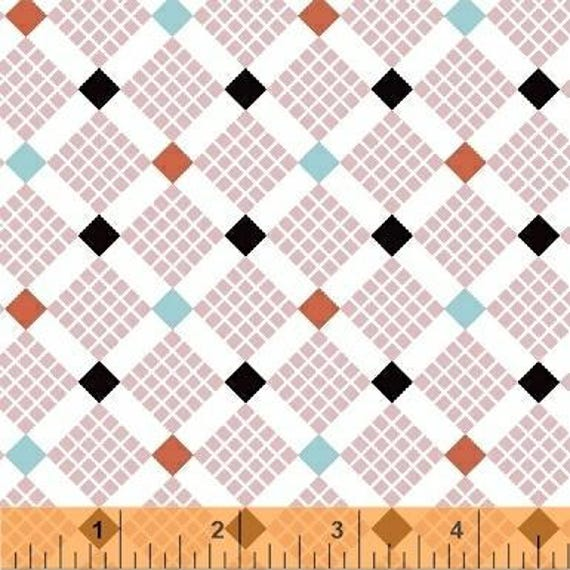 Uppercase Volume 2 by Janine Vangool for Windham Fabrics - Feed Sack in Pink - Fat Quarter