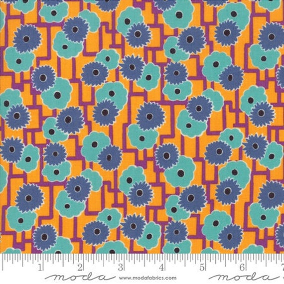 Moda Remix Azalea in Mango (1815813) by Jen Kingwell -- Fat Quarter