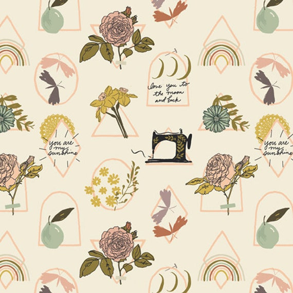 Her and History by Bonnie Christine -  Fat Quarter of Elsie's Sunshine