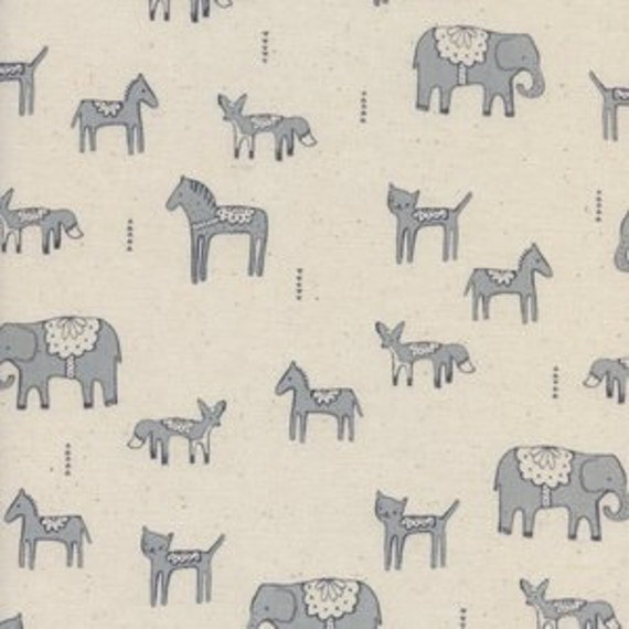 Flower Shop by Alexia Marcelle Abegg for Cotton and Steel - Fat Quarter- Dala Friends in Grey