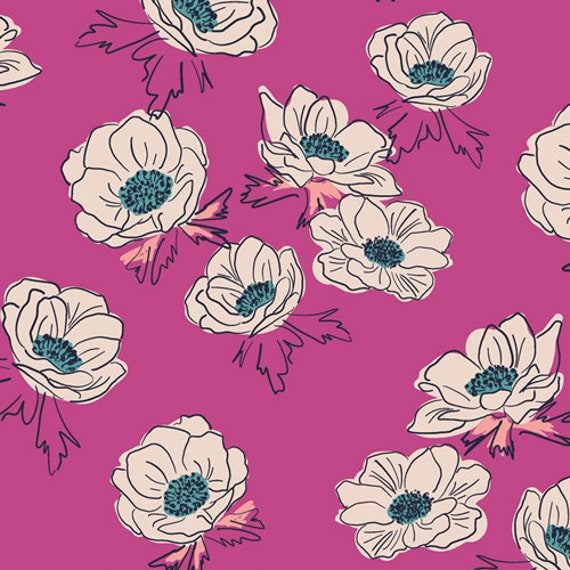 Trouvaille by AGF Studios for Art Gallery Fabrics -  Fat Quarter of Anemone Falls