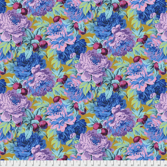 Kaffe Fassett Collective February 2020 -- Fat Quarter of Philip Jacobs Luscious in Ochre