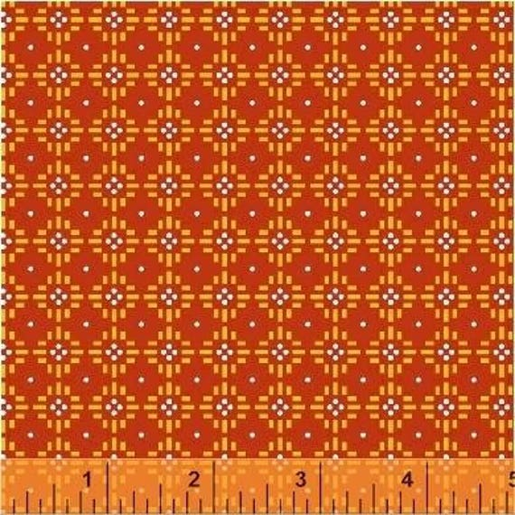 Uppercase Volume 2 by Janine Vangool for Windham Fabrics - Flower Stitch in Red - Fat Quarter