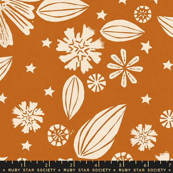 Golden Hour -- Zinnia in Saddle (RS4016-12) by Ruby Star Society for Moda -- Fat Quarter