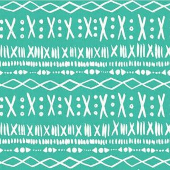 In Stock! Printshop Stitch in Turquoise by Alexia Marcell Abegg for Cotton and Steel