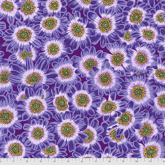Kaffe Fassett Collective August 2021 -- Fat Quarter of Philip Jacobs Lucy in Lavender