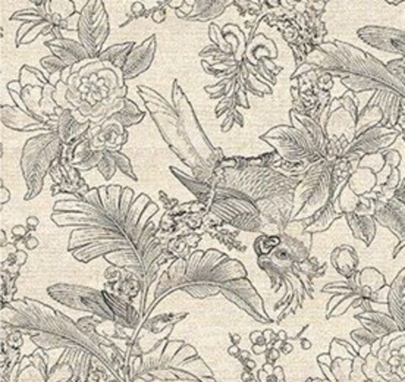 Chinoiserie by Devonstone,  55/45% Linen/Cotton Canvas -- 25cm -- 150cm Wide Width