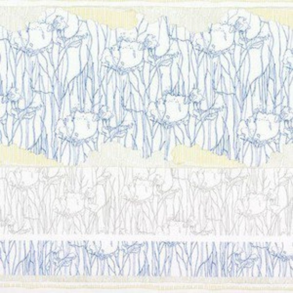 In Stock! Friedlander by Carolyn Friedlander -- fat quarter -- Tree Stripe Border in Sky