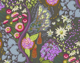 Love Always by Anna Maria Horner Fabrics for Free Spirit Fabrics - Fat quarter of Source Code in Spark