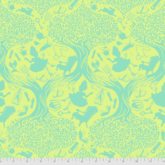 Fat Quarter Down the Rabbit Hole in Bewilder - Tula Pink's Curiouser and Curiouser for Free Spirit Fabrics